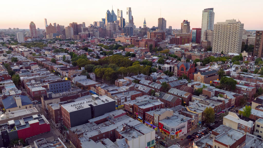 514 South Street Panorama - Philly By Drone