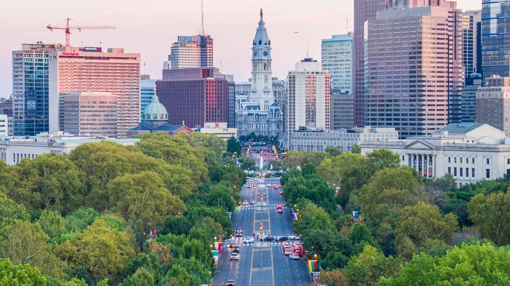 Benjamin Franklin Parkway - Philly By Drone